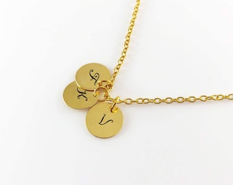 Custom  Initial Necklace, Personalized Disk, Letter Tag Necklace For Mother, Kids Names Necklace, Family Grandma Necklace, Bridesmaids gift