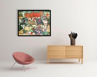 Yellow City 1914,Egon Schiele, Art Poster, poster wall art, Office Decor, Home Decor Print