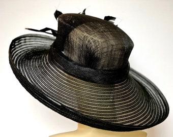 Kentucky Derby Black Hat Wide Brim