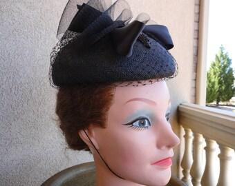 Vintage Fedoria  Straw Hat
