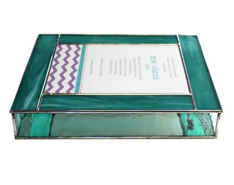 Stained Glass Keepsake Bat Mitzvah Invitation Gift Box