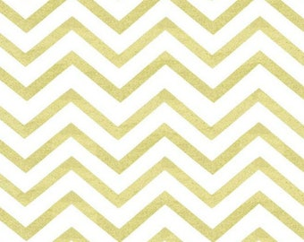 Fabric, Michael Miller - Sleek Chevron Pearlized in Glitz, Quilting Cotton, Craft Supplies & Tools, Sewing Supplies