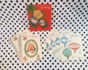 C.1950~Vintage~Unused~Christmas Greetings Cards~Set of 6
