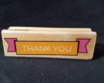 Thank You Banner  Used Rubber Stamp View all Photos