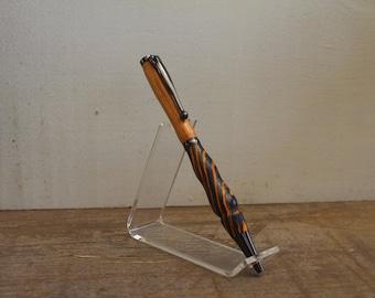 Desert Rust and Olive Wood Chrome Plated Slimline Pen
