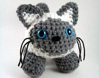A Siamese Cat, an Amigurumi Crochet Pattern - PDF File