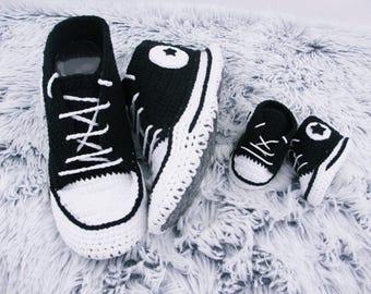 Crochet Shoes Crochet slippers  Crochet Sneakers Kids slippers, House shoes, Women slippers, Slippers for men, Hand knit slippers,