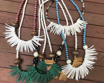 Coconut stick necklace - long