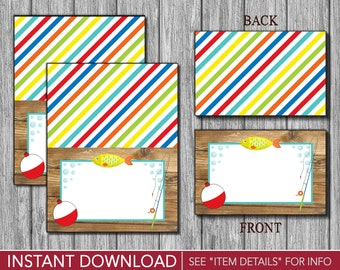 Fishing Birthday Tent Cards - Fisherman's Buffet Cards - Food Labels - Place Cards - Printable Digital File - INSTANT DOWNLOAD