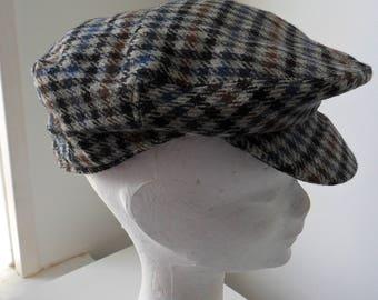 Vintage 1960s Christy's of London Haymarket Houndstooth Men's Flat Cap (Lambswool)