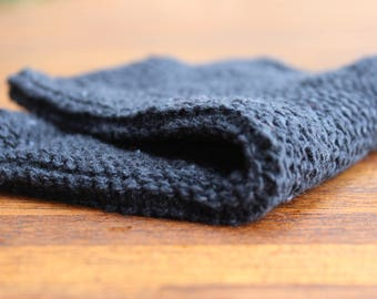 Dishcloth - hand knitted in 100% recycled cotton