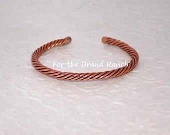 Recycled Copper Bracelet - Unisex Large