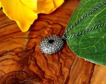 Sea urchin necklace silver