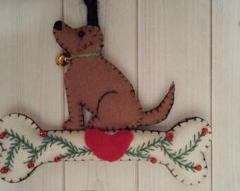 Dog Christmas ornament dog lover gift teacher gift ornament exchange cottage chic ornaments hunting cabin decor rustic dog ornament unique