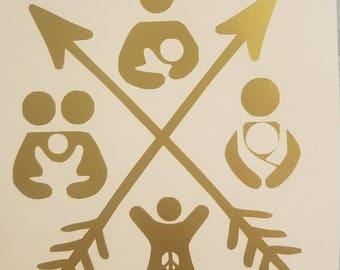 Natural Parenting Arrow Decal