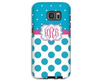 Monogram Galaxy S8 case, polka dot Galaxy S8 Plus case, Galaxy Note 8 case, Samsung Galaxy case, Galaxy S7 Edge case, Samsung le Pixel case