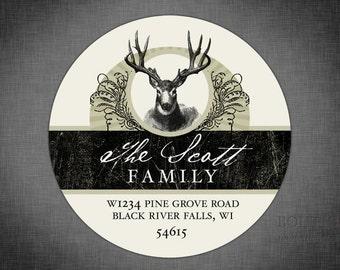 Vintage Deer Personalized Return Address Label