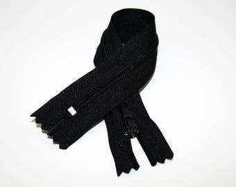 Zipper, 20 cm, black, not separable