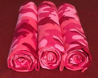 Soft Flannel Receiving Blanket - Pink Camo