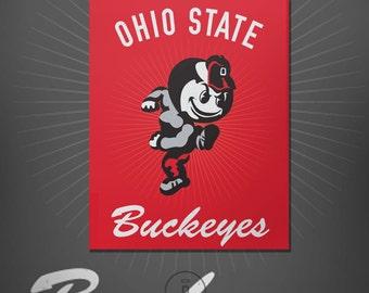 Ohio State Buckeyes Brutus Graphic Print - The Ohio State University Brutus Logo Poster