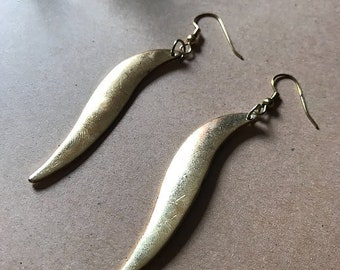 Gloss Gold Dangle Earrings