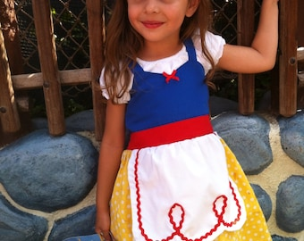 SNOW WHITE dress princess APRON dress toddlers baby and girls princess costume