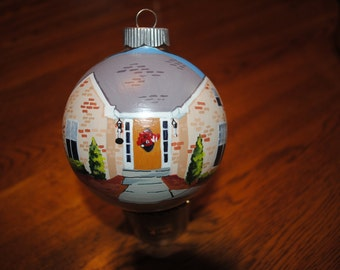 Customer Hand Painted New Home Ornament - sold
