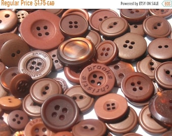 50% OFF - Chocolate Brown - Button Selection