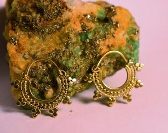 "Brass Earrings ""Spikes Small"""