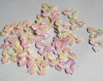35 pcs Rainbow White Color Flower Sequins/ Code PBF507