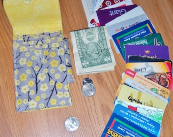 New Slender Wallet PDF Sewing Pattern INSTANT DOWNLOAD : A Skinny Approach to Carrying Cards, iD, Cash, Coins