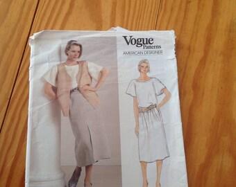 Calvin Klein vintage sewing pattern vogue