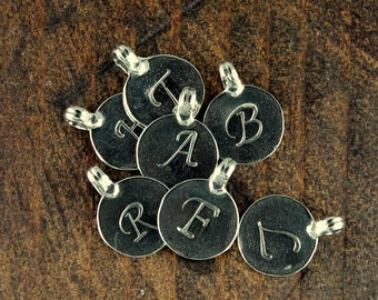 Larger Initial Charm Sterling Letter Charm