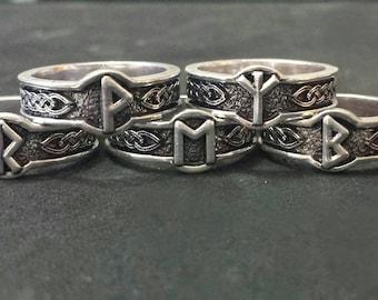 Rune rings viking norse mytology odin jewlery pagan jewlery