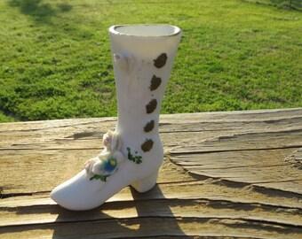 Miniature Porcelain Ceramic Victorian Era Ladies Boot