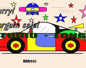 postcard printable(Sports car)