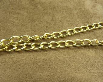 Chain metal-1, 2 cm / 8 mm - gold