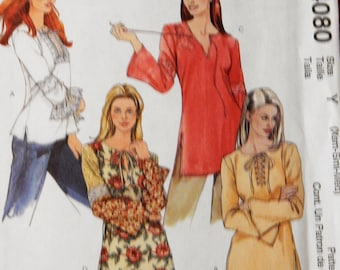 McCall's 4080 Bias cut top or tunic pattern Uncut Sizes extra small, small and medium