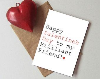 Palentine's day card - Valentine card for friend - Valentine card for single friend - Funny Valentine's day card -  Single friend Valentine