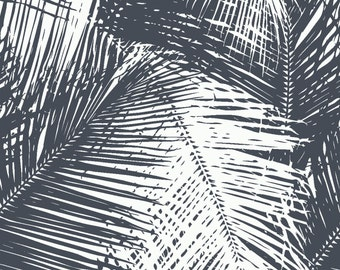 Palms Storm Cloud Fabric by the Yard