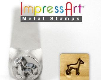 Impress Art 6mm Doberman Dog Metal Design Stamp - Metal Stamp - Metal Stamping and Jewelry Tool -  SGSC156-AD-6mm