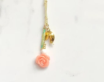 Rose, Feather and Fortune Necklace