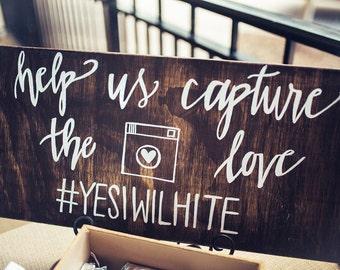 Custom Wedding Hashtag Sign