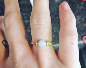 Reserved for Natasha Warman - one ring 3 stones and lab stones for accents