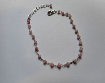 925 sterling silver Rose Quartz bracelet