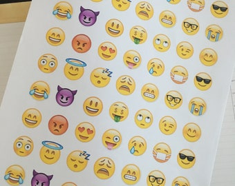 Printable Emoji Stickers for Planners
