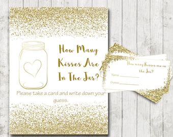 bridal shower games gold bridal game guess the kisses gold glitter wedding