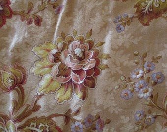 Antique Fabric French 1800s Cotton