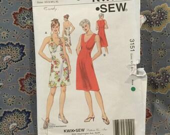 Kwik sew, 70s style dress, multinsize fro, Xs to xl