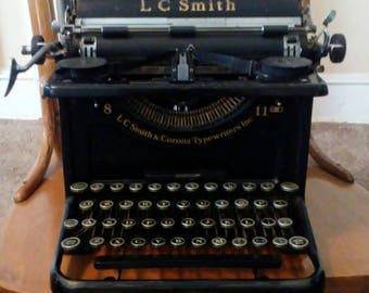 1930s L C Smith and Corona Typewriter